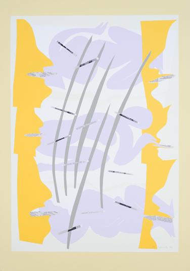 13. Chaos - Wolken - Zunge (zu Die Wolken von Aristophanes) 2002, Papierschnitt