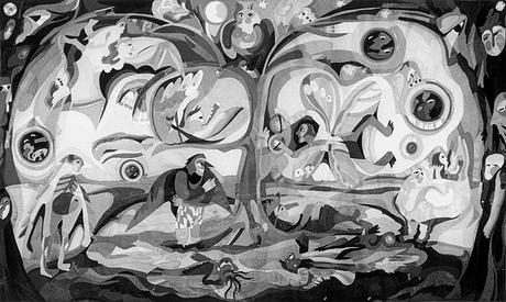 2. Menschenvögel 1976, 170 x 300 cm