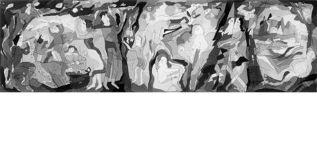10. Fest im Freien 1986, 142 x 500 cm
