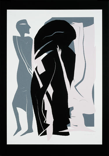 4. Schattenvogel 1995, Papierschnitt