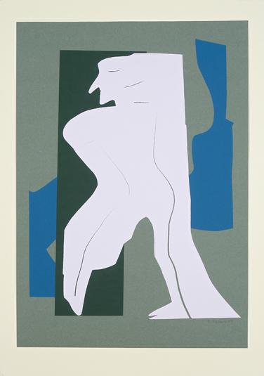 5. Schemen (zu Die Frösche von Aristophanes) 1995, Papierschnitt